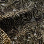 Textile fil métallo jointif acanthe envers