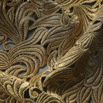 Textile fil métallo jointif acanthe