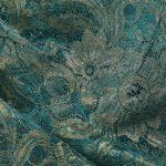 Textile fil guipé jointif dentelle bleu or