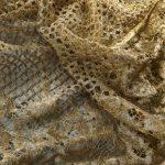 Textile fil guipé jointif leavers croisillon doré