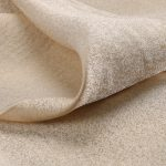 Textile fil guipé disjointif crêpe or crême