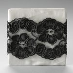 Textile fil retordu marguerite noire