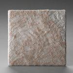 Textile fil guipé jointif dentelle rose pale sur gauffré