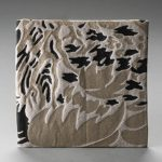 textile fil guipé irrégulier métallo jointif léopard